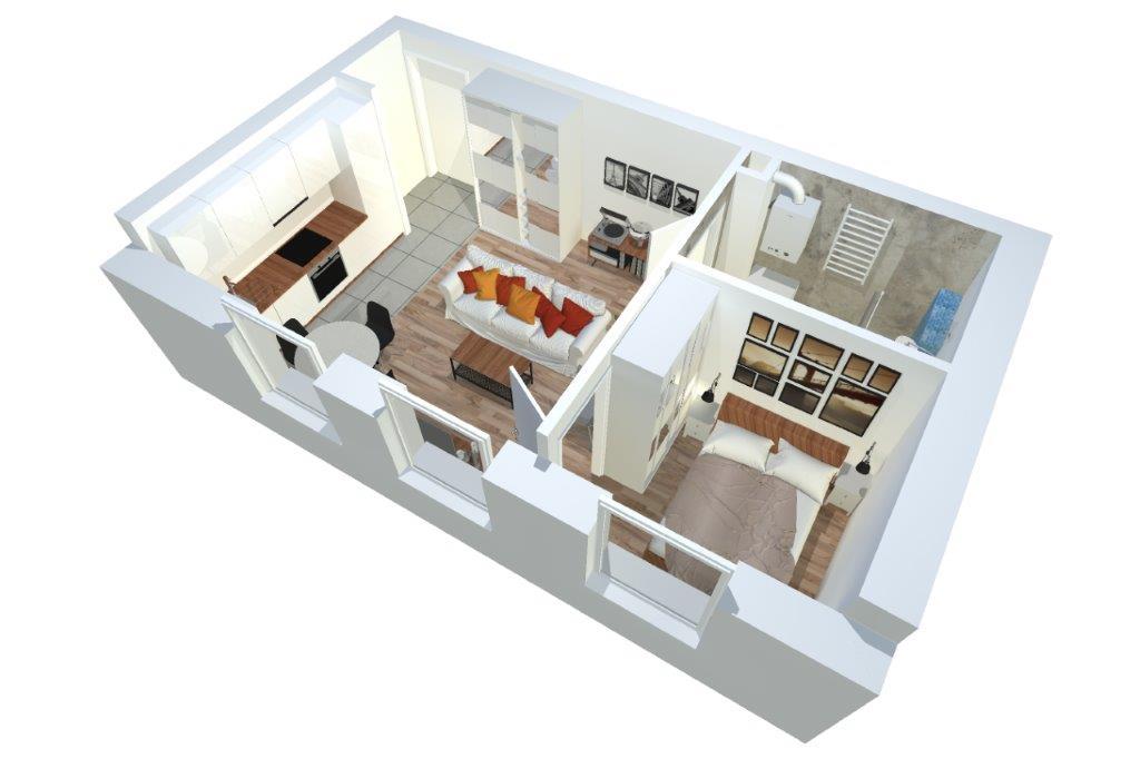 1 Bedroom Bedrooms, 2 Rooms Rooms,1 BathroomBathrooms,Mieszkania,Sprzedaż,1144